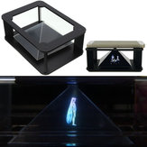 DIY 3D Holographic Projection Pyramid For iPhone 6S Plus 6S Samsung HTC Smartphone