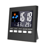 Loskii DC-001 Digital Temperature Humidity Alarm Clocks LCD Weather Station Display Clock