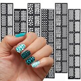 Reusable Hollow Stamping Nail Art Template Stencil Sticker Decoration