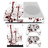 Blutige Haut Aufkleber Aufkleber für Xbox One S Spielekonsole & 2 Controller