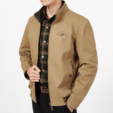 Mens Big Size Double Wear Stand Collar Outdoor Cotton Jacket