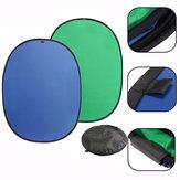 Pantalla verde / azul 2-en-1 de fondo del panel emergente telón de fondo reversible plegable