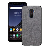 Bakeey Luxury Fabric PC Back + Soft TPU Bumper Protective Case for Xiaomi Pocophone F1