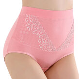 Women High Waist Breathable Healthy Cozy Hip Lifting Lace Panties