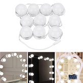 10pcs Vanity LED Kit de bombillas de luz regulable espejo Cosmético Maquillaje Hollywood Style