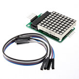 MAX7219 Dot Matrix MCU LED Display Control Module Kit For Arduino With Dupont Cable