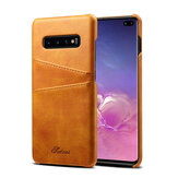 Premium Cowhide Leather Card Slot Protective Case For Samsung Galaxy S10 Plus 6.4 Inch