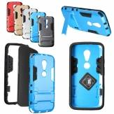2-in-1 TPU+ PC Hard Stand Back Cover Case For Motorola Moto G2 2nd