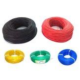 Original 10m Soft Silicona Alambre 22AWG Cable flexible OD de 1.7 mm resistente al calor Modelo Negro / Blanco / Rojo / Verde / Azul RC