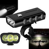 XANES XL29 1500LM 3T6 LED 3 Modes Cycling Aluminum Alloy Bike Headlight 18650mAh Battery USB Charging