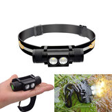 XANES D25 1650LM 2 x XPL2 LED 6 Modes Stepless Dimming USB Charging Interface IPX6 Waterproof Cycling Headlamp 18650