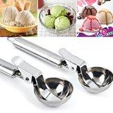 KCASA KC-IS01 Stainless Steel Scoop Spoon Dig Spherical Ball Tool For Ice Cream Fruit Frozen Yogurt