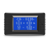 Original PZEM-022 Open and Close CT 100A AC Digital Display Power Monitor Meter Voltmeter Ammeter Frequency Current Voltage Factor Meter with Split CT