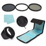 7Pcs 67mm UV CPL Polariserende ND 4 Lens Filter Cap Cap Tas voor Canon Nikon Sony Camera DSLR