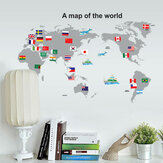 World Map PVC Wall Stickers Removable Waterproof Wall Art Decals Home Decor