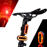 XANES STL03 100LM IPX8 Memory Mode Bicycle Taillight 6 Modes Warning LED USB Charging 360° Rotation