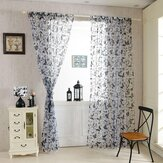Honana WX-C8 1x2m Fashion Butterfly Voile Door Curtain Panel Window Room Divider Sheer Curtain Home Decor