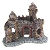 Yani Aquarium Decoration Wizard's Castle Fish Tank Shelter House  Hand Painted Realistic Castle