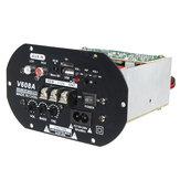 V608A 80W Hi-Fi Subwoofer Amplificador de Coche de Bajo de Alta Potencia Módulo de Junta TF USB 110V-220V
