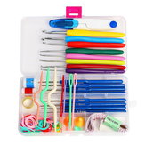 1 Set Crochet Hooks Needles Stitches Knitting Craft Case Crochet Set in Case Yarn Hook DIY Crafts Home Supplies