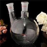 1000ml 2 Neck 24/40 Flat Bottom Glass Flask Laboratory Boiling Bottle