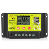Intelligent 10A/20A 12V 24V LCD PWM Solar Panel Charge Controller Regulator