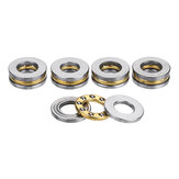 Machifit 5pcs Flat Thrust Ball Bearing ID. 2.5/3/4/6/7/8mm Mini Miniature Bearings F25-6 F3-8 F4-10