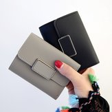 Women Trifolding Small PU Leather Wallet Card Holder Purse
