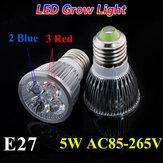5w E27 3 2 planta rojo azul jardín crecer LED bombilla de luz de efecto invernadero crecimiento de las plántulas de plantas