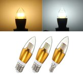 E14 E12 E27 7W SMD 3014 LED Golden Glass White Warm White Candle Bulb Lamp AC 85-265V