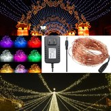 20M IP67 200 LED Copper Wire Fairy String Light for Xmas Party Decor with 12V 2A Adapter