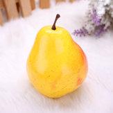 Molde pera artificial falsa frutas de plástico de frutas casero que adorna los apoyos de aprendizaje molde