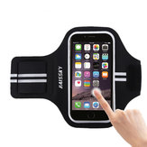 Haissky HSK-64 Outdoor Running Waterproof Touch Control Armband Arm Bag for iPhone 6s Mobile Phone