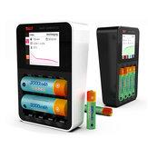 ISDT C4 8A Touchscreen Smart Batterie Ladegerät mit USB Ausgang für 18650 26650 AA AAA Batterie