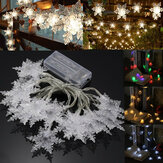 Battery Powered 2.1M 20LED Snowflake Fairy String Curtain Window HoliDay Light Wedding Party Decor