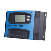 10A 15A 20A 25A 30A 40A PWM 12V/24V Solar Panel Battery Regulator Charge Controller LCD Display
