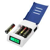 Doublepow K209 4 слота Быстрая зарядка AA AAA Rechageable Батарея Smart Charger с Дисплей