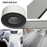 240x5.8x0.5cm EVA Flooring Faux Imitation Teak Gray&Black Decking Boat Flooring Sheet Pad