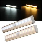 10 luz del gabinete LED pir armario del armario de la lámpara del sensor de movimiento del cuerpo humano LED luz de la noche LED quita la luz 6v