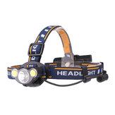XANES 2606-3 550LM T6+2*COB LED White Red Light HeadLamp 7 Modes 2x18650 Battery Super Bright