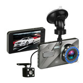 4 Inch HD 1080P Dual Lente Cámara 170 Degree Coche DVR Video Dash Cam Rear Rear Recorder