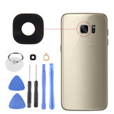Black Rear Camera Glass Adhesive Lens Cover + Tools for Samsung Galaxy S7 Edge