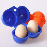 Honana Barbecue Portable Egg Storage Box Container Outdoor Camping Picnic 2 Egg Case Carrier Tray