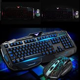 104Keys USB LED Light Gaming Keyboard and Optical Mouse Set Kit for Computer PC Gamer