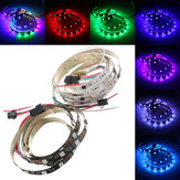 1M 9.6W DC 12V WS2811 48 SMD 5050 LED RGB Changeable Flexible Strip Light Individually addressable