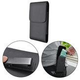 Zwart Universele PU lederen magnetische portemonnee tas met klem voor telefoon van 5,7 tot 6,3 inch