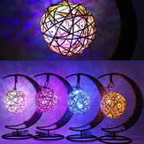 Creative Handmade Hemp Rope Rattan Ball Copper Wire Lamp Glass Apple Modeling Lamp Decor Light