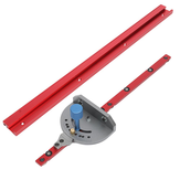 400-1200mm Red Aluminum Alloy 45 Type T-Track Woodworking T-slot Miter Track/Table Saw Router Miter Gauge