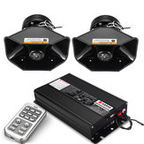 Original 18 Siren Loud Warning Alarm Police Siren Horn Amplifier Car Speaker System 400W