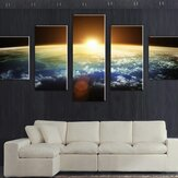 5  Cascade Sunset Space  Canvas Wall Painting Picture Home Decoration Without Frame Including Instal